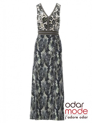 Dames Maxi Kleed - S886 - K-design