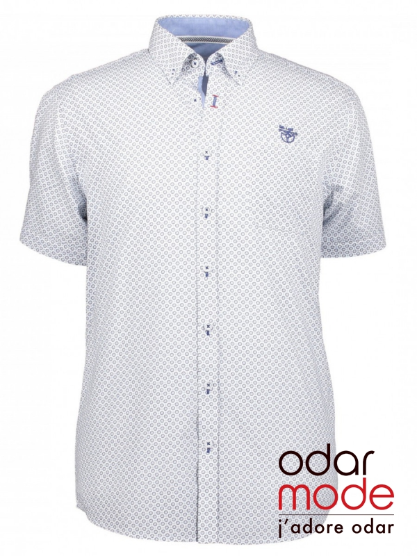 dc1b4cdc4a1 Heren hemd korte mouw - Blue fields - Odar Mode